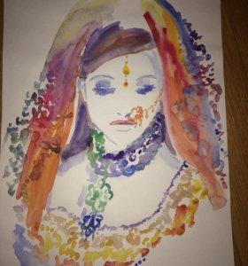 Портрет «индийская принцесса»