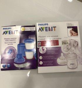 Молокоотсос Philips avent+ контейнеры для молока
