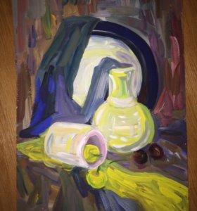Картина «Натюрморт с круглым блюдом»