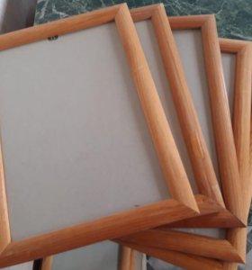 Рамки со стеклом, в наличии много