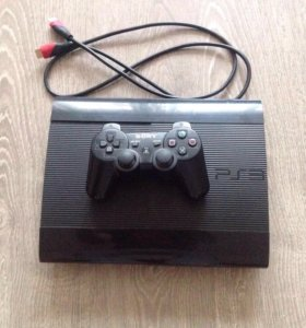 PS3 Super Slim 500gb + 10 игр.