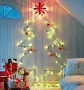 Светодиодные гирлянды для украшения дома.