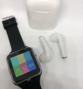 Набор: смарт-часы + наушники Air Pods
