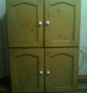 2 двойных навесных шкафчика от гарнитура