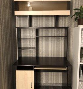 Компьютерный стол+полка для книг