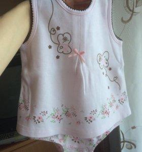 Боди-платье 6-12 месяцев