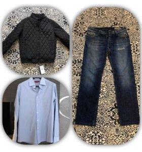 Джинсы итальянская рубашка куртка
