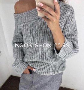 Тёплый свитер oversize