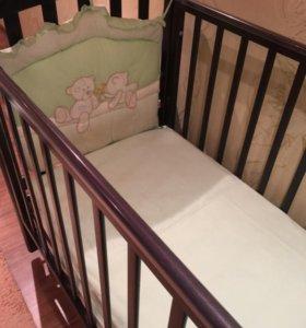 Кроватка детская Лель с матрасом