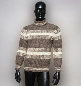 Шерстяной свитер мужской с высоким горлом