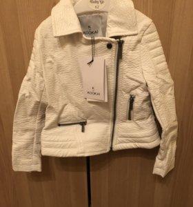 Кожаная детская куртка новая!