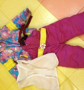 Зимний костюм ботинки сапожки комбинезон
