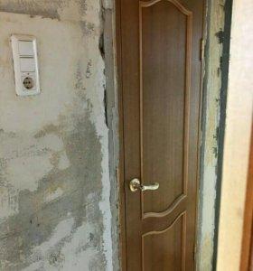 Дверь на 600мм с наличниками и коробкой
