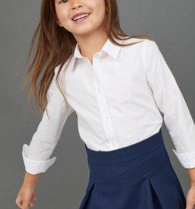 Продаю новую хлопковую рубашку для девочки 6-7 лет