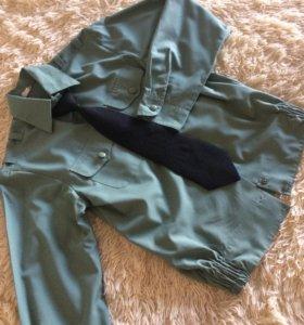 Военная рубашка с галстуком