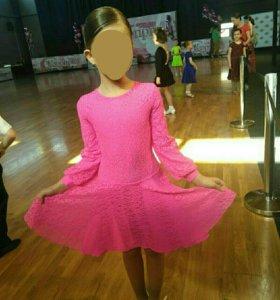 Платье рейтинговое для бальных танцев рр 122 (32)