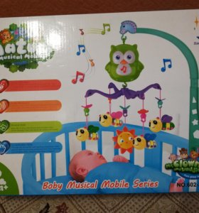 Мобиль музыкальный для детской кроватки