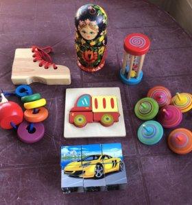 Деревянные игрушки пакетом