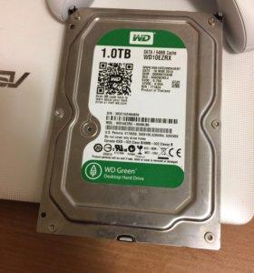 Жесткий диск WD green 1 Тб