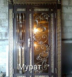 Двери входные кованые.