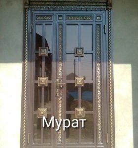 Двери кованые.