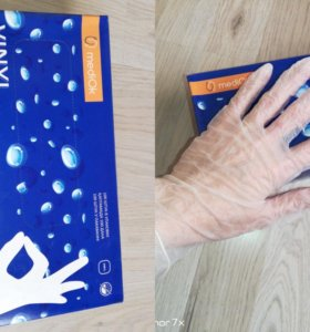 Виниловые перчатки 100шт размер Л