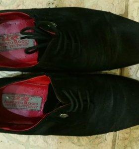 Туфли мужские замша 41 размер б/у