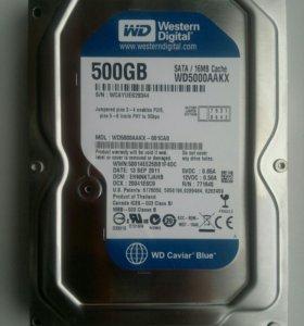 Жесткий диск WD на 500Гб