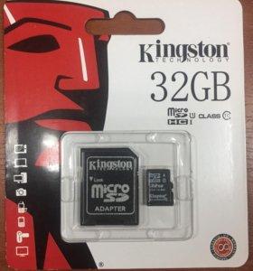 Micro SD Kingston + Adapter 32/64 gb