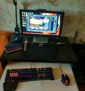 Игровая клавиатура и мышь a4tech bloody B820 и T7