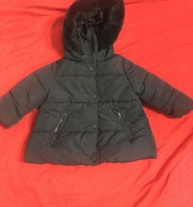 Демисезонная Детская куртка на девочку фирмы zara