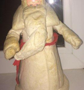 Дед Мороз СССР папье Маше , вата
