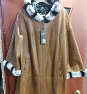 Новая кожаная куртка р56-58