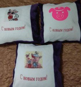 Новогодние подарочные подушечки