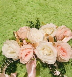 Свадебные банты на ручки или зеркала