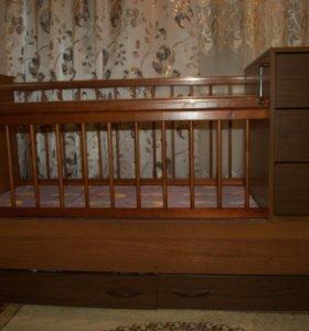 Продам детскую кроватку-трансформер.