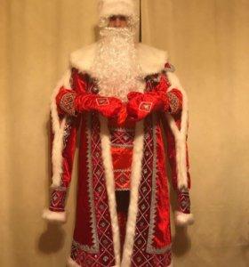 Костюм Деда Мороза «Кремлевский - красный»