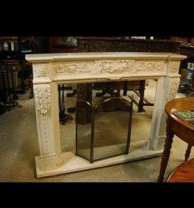 Деревянный портал для камина