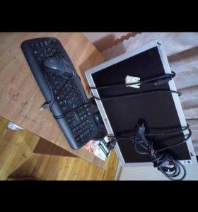 Монитор, клавиатура, мышка и веб камера