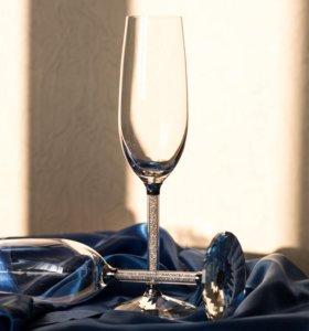 Бокалы для шампанского Swarovski