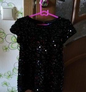 Платье вечернее для девочки из пайеток)