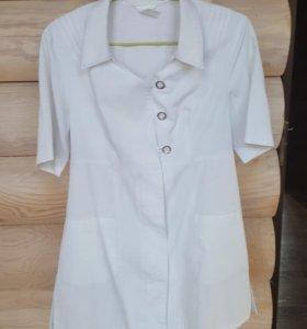 Халат, блуза медицинская белая, р.46