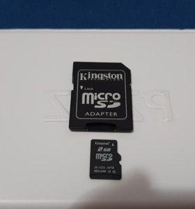 Карта памяти MicroSD 2GB