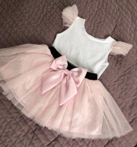 Комплект юбка пачка и футболка мама дочь