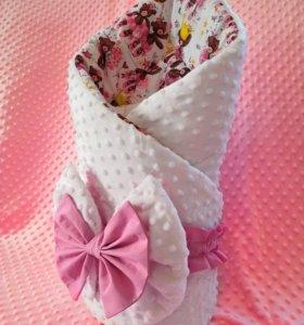 Конверт (одеяло) на выписку для новорожденных
