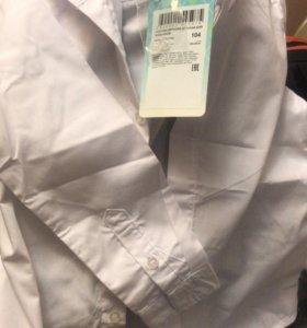 Рубашка белая новая фирма акула