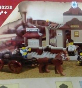 Лего Жд. вокзал +2 поезда +мотоцикл