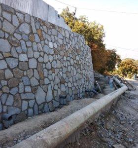 Габионы,Опорные стены
