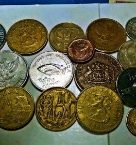 иностранные монеты с изображением животных.фауна
