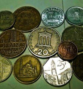 иностранные монеты с изображением архитектуры